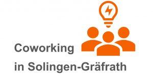 Webkarte mit dem Logo und Bezeichnung von der Schreibtischmieter Coworking-Gräfrath.